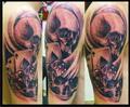 lebky a karty kostky  Tetování - kérky - Tattoo
