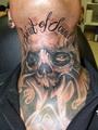 lebka na krku  Tetování - kérky - Tattoo