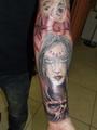 demonische Frau  Tätowierung  - Tattoo